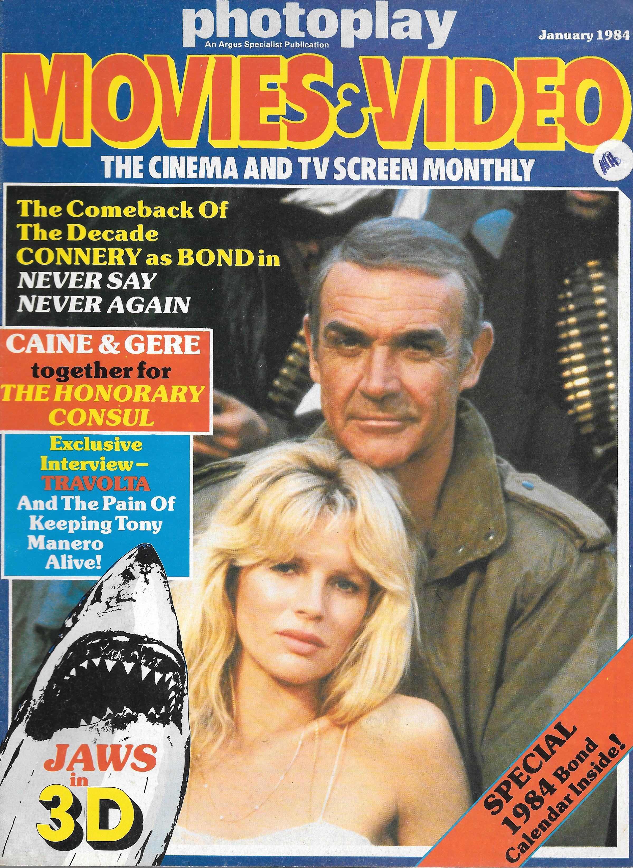 Photoplay Uk Magazine January 1984 Vintage Magazines