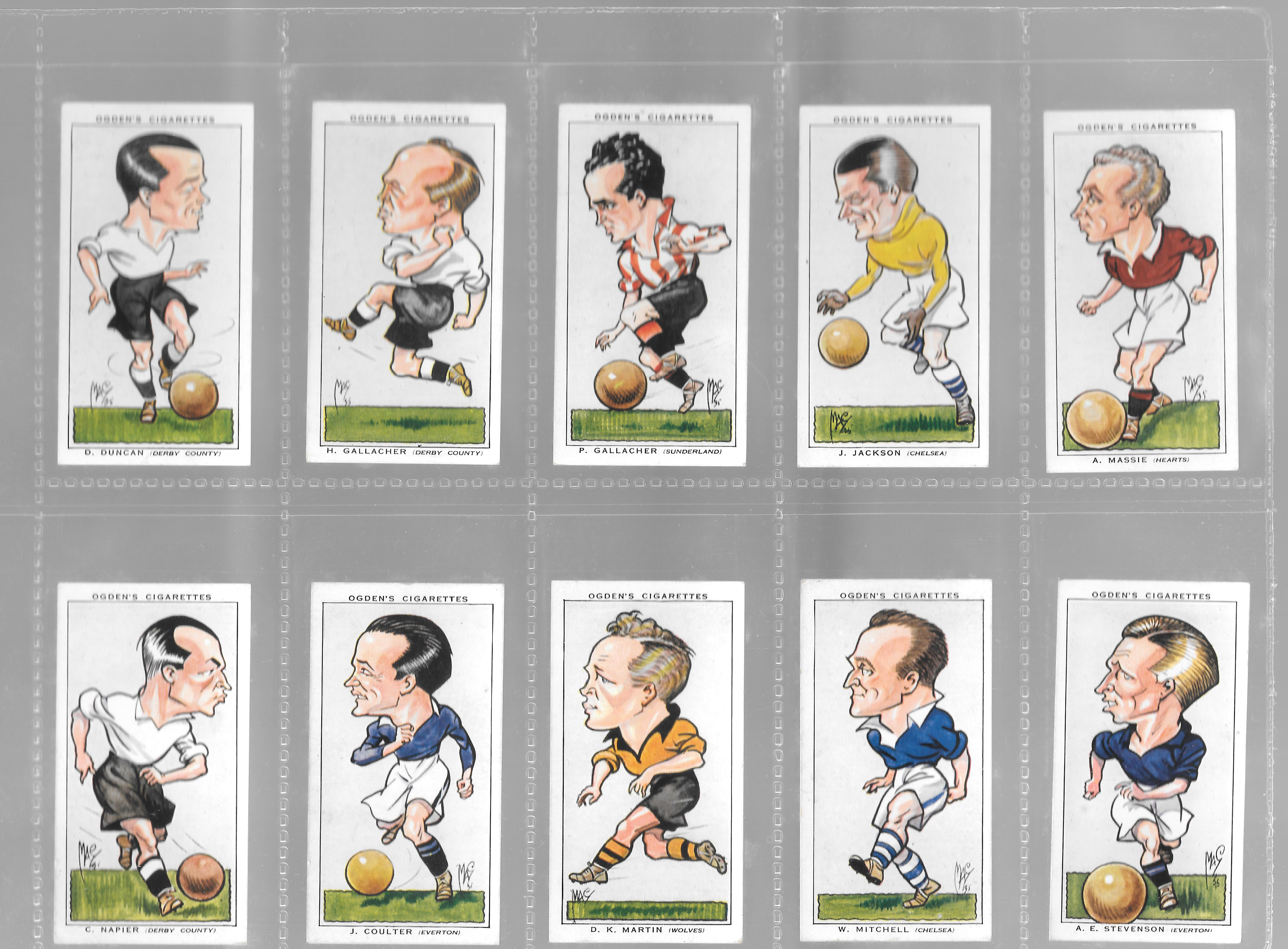 OGDENS-FOOTBALL CARICATURES-#25 HEARTS MASSIE