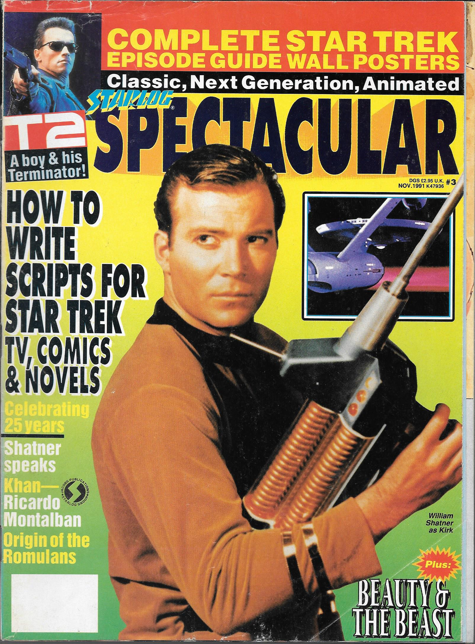 STARLOG SPECTACULAR US MAGAZINE NO 3 NOVEMBER 1991 : Vintage to Modern  Magazines
