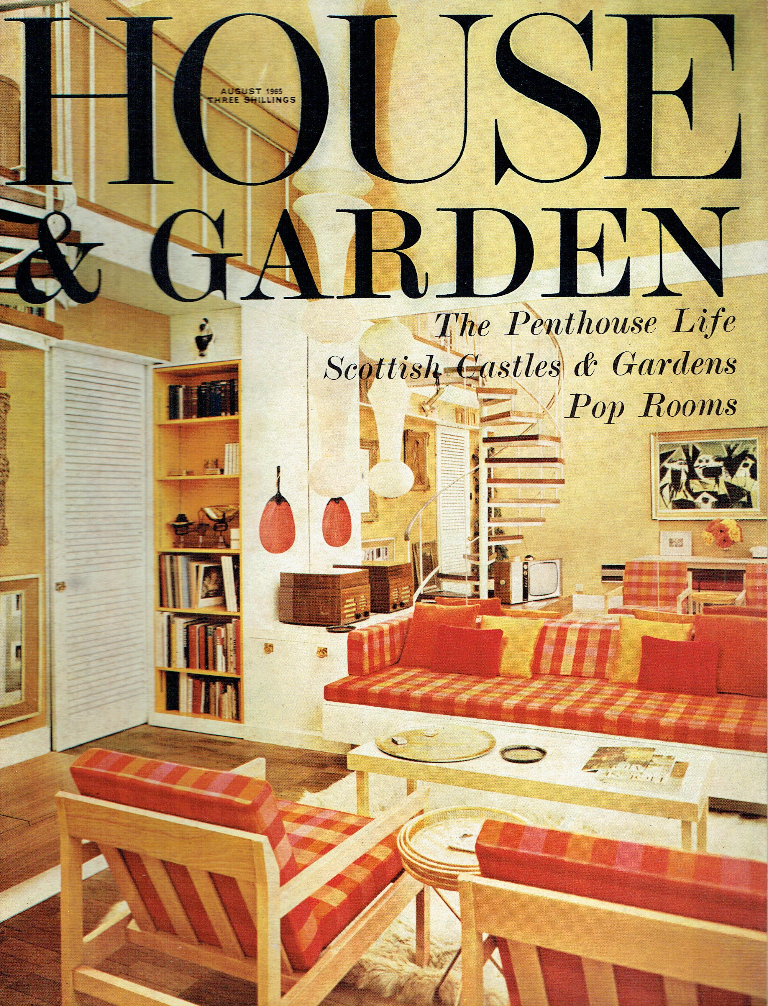 House And Garden Uk Magazine August 1965 Vintage Magazines