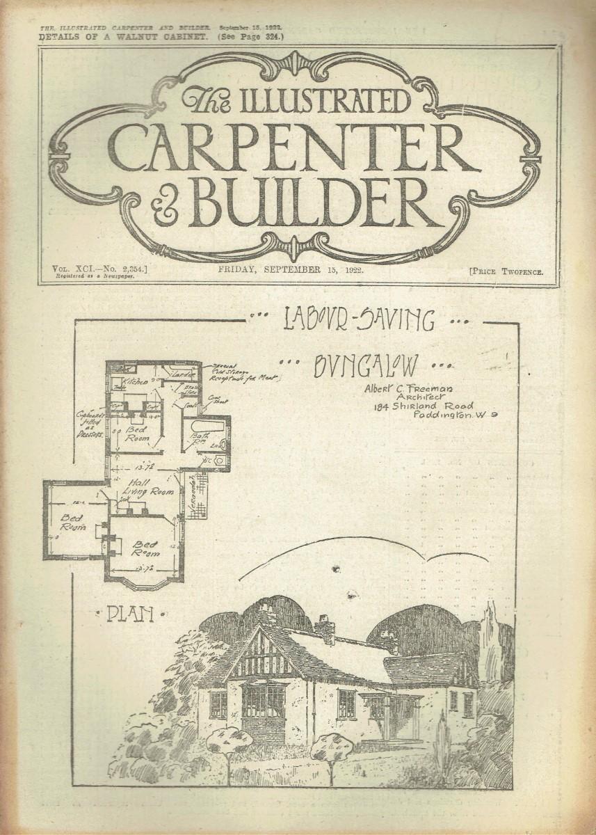 THE ILLUSTRATED CARPENTER AND BUILDER UK MAGAZINE SEPTEMBER 15TH 1922